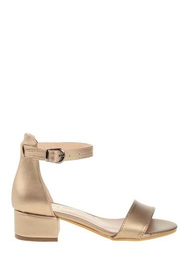 Derigo Kalın Topuklu Sandalet Altın